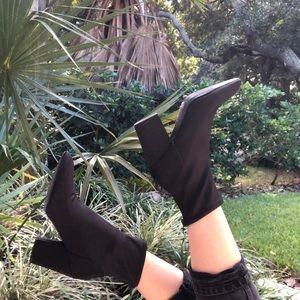 Nine West Black Sock Booties